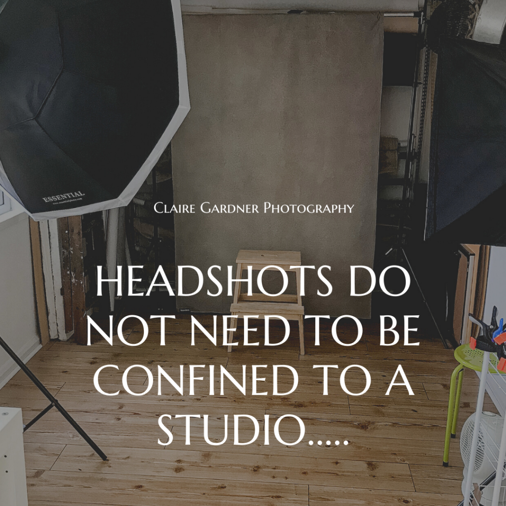 Headshots do not need to be confined to a studio.....